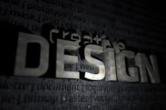 Thème créateur de la conception 3D illustration libre de droits