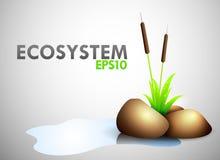 Thème d'écosystème illustration stock