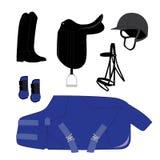 Thème d'équipement de dressage illustration stock