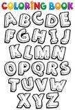 Thème 1 d'alphabet de livre de coloriage illustration de vecteur