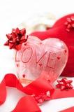 Thème d'amour, décorations de coeur Photos libres de droits