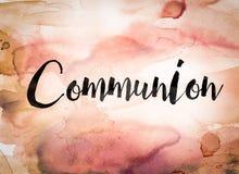 Thème d'aquarelle de concept de communion Photographie stock