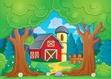 Thème d'arbre avec la ferme 3 Image libre de droits