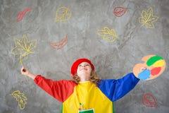 Thème d'automne de dessin Imagination et concept de liberté photos stock