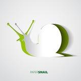 Thème d'illustration de papercut d'escargot Photographie stock