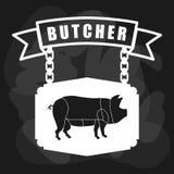 Thème de BBQ et de boucherie Photos stock