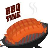 Thème de BBQ et de boucherie Images stock