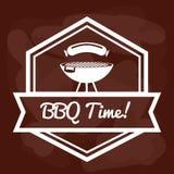 Thème de BBQ et de boucherie Photo libre de droits
