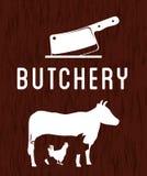 Thème de BBQ et de boucherie Image stock