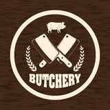 Thème de BBQ et de boucherie Image libre de droits