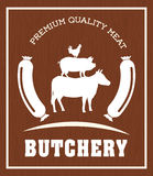 Thème de BBQ et de boucherie Photographie stock libre de droits