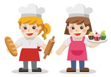 Thème de boulangerie de Baker illustration libre de droits