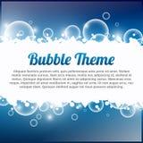Thème de bulle Photographie stock
