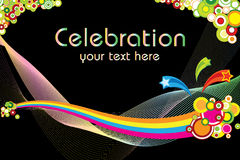 Thème de célébration Image stock