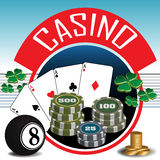 Thème de casino Photographie stock libre de droits