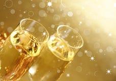 Thème de Champagne Photo stock