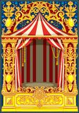 Thème de cirque de vintage d'affiche de carnaval illustration de vecteur