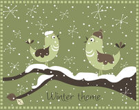 Thème de l'hiver Photo stock