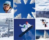 Thème de l'hiver Photo libre de droits