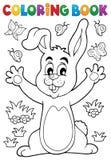 Thème 6 de lapin de livre de coloriage Photos libres de droits