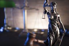 Thème de loi et de justice photographie stock libre de droits