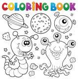 Thème 2 de monstre de livre de coloriage Images stock