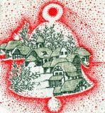 thème de Noël de fond Photos stock