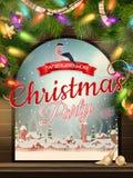 Thème de Noël - fenêtre avec une sorte ENV 10 Photographie stock libre de droits