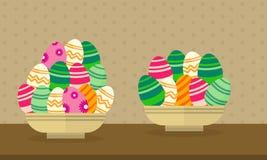 Thème de Pâques de collection avec l'oeuf Image libre de droits
