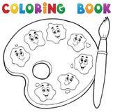 Thème 2 de palette de peinture de livre de coloriage Images libres de droits