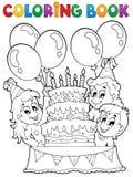 Thème 2 de partie d'enfants de livre de coloriage Photographie stock libre de droits