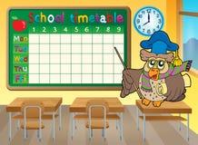 Thème 4 de salle de classe d'horaire d'école Images libres de droits