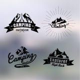 Thème extérieur de vintage de logo Images libres de droits