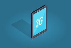 Thème futé d'appartement et d'ombre de connexion du téléphone 3G Photos stock