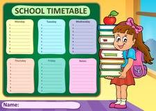 Thème hebdomadaire 4 d'horaire d'école Images stock
