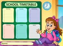 Thème hebdomadaire 7 d'horaire d'école Photos stock