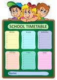 Thème hebdomadaire 5 d'horaire d'école illustration de vecteur
