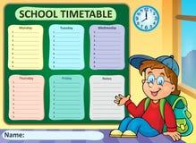 Thème hebdomadaire 6 d'horaire d'école Photo stock