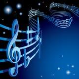 thème musical de fond Photographie stock