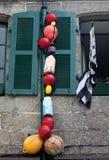 Thème nautique avec Brittany Flag Photo libre de droits