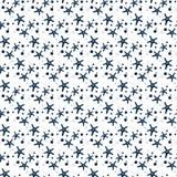 Thème nautique de tissu sans couture Contour bleu de l'image illustration stock