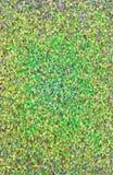 Thème pluvieux de fond vert de facette en cristal Photographie stock