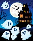 Thème près hanté 6 de maison de fantômes Photos libres de droits