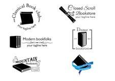 thème Pré-fait de livre de calibre de logo illustration stock