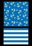 Thème sans couture de marine de modèle Photo libre de droits