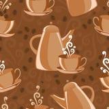 Thème sans joint de café de fond Photo stock