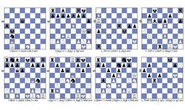 Thème tactique de collection de jeu d'échecs d'attrait illustration libre de droits