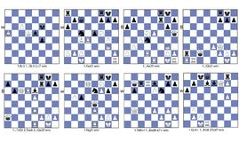 Thème tactique de collection de jeu d'échecs de déviation illustration libre de droits