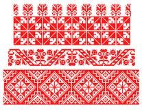 Thème traditionnel roumain de tapis illustration de vecteur