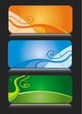 Thèmes colorés de carte de visite professionnelle de visite Images stock